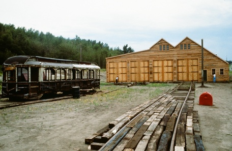 FEP streetcar barn under construction